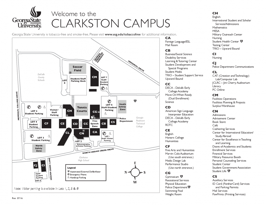 clarkston campus map