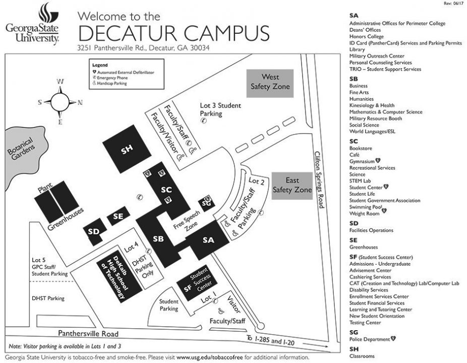 Decatur Campus Map