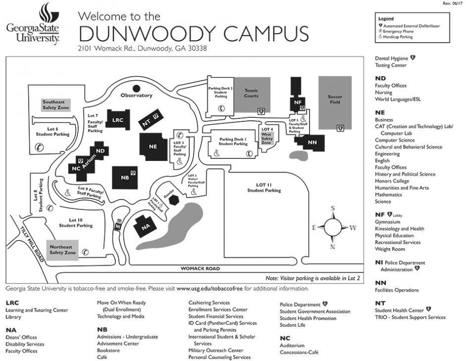 Dunwoody Campus Map